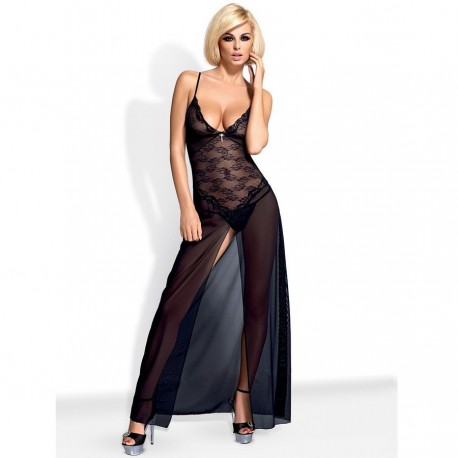 OBSESSIVE CHARMS GOWN NEGRO L/XL