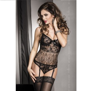 FABRA TEDDY NEGRO SENSUAL BY PASSION L/XL